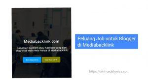 Peluang job untuk blogger