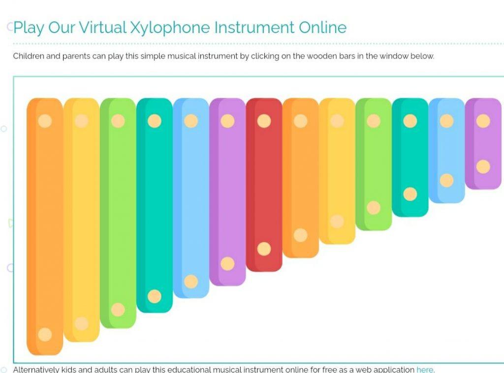 Game virtual xylophone untuk anak
