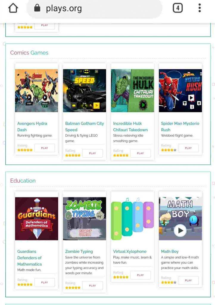 Kategori games di plays.org